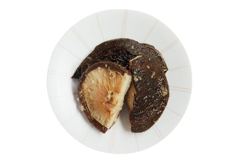 シイタケの焼き生姜オイル