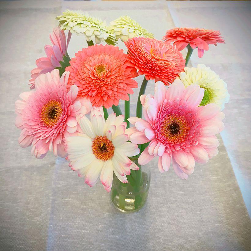 毎年、娘の誕生日には誕生花のガーベラを買いに