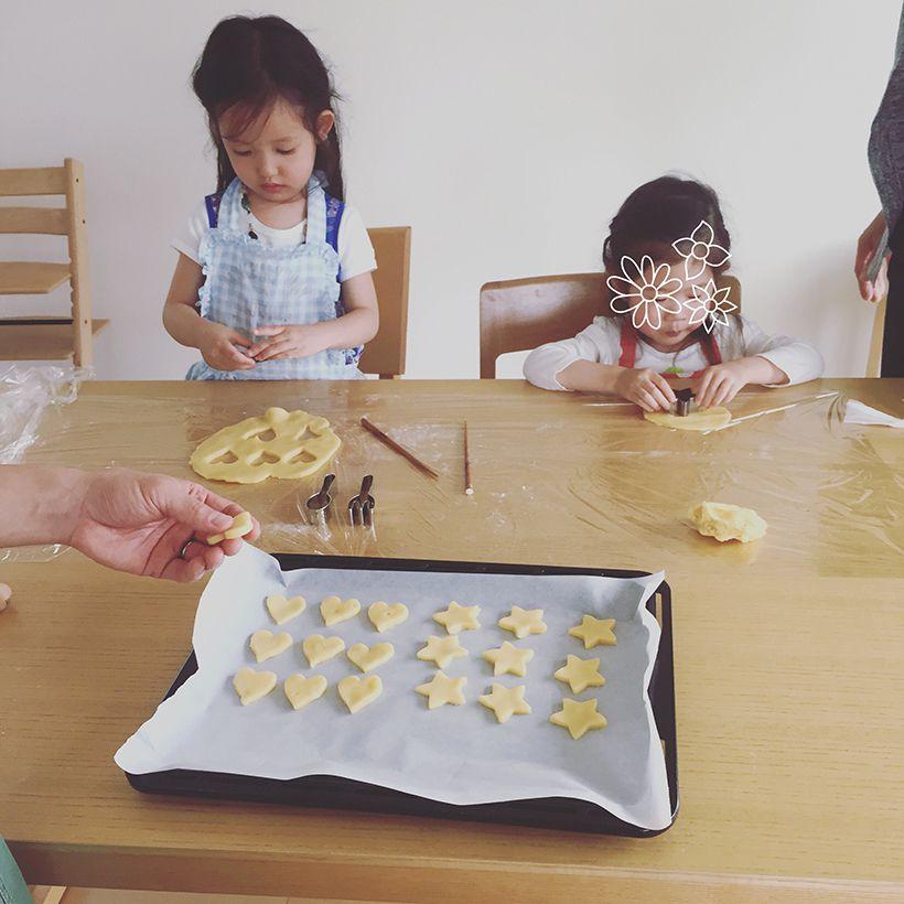 はじめてのお菓子づくりは型抜きクッキー