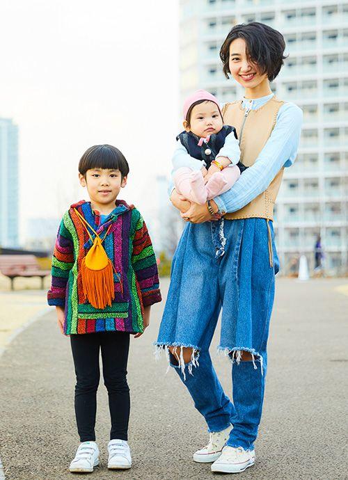 会社員 谷 由佳さん&左馬之助くん・7歳、右寿紀ちゃん・1歳