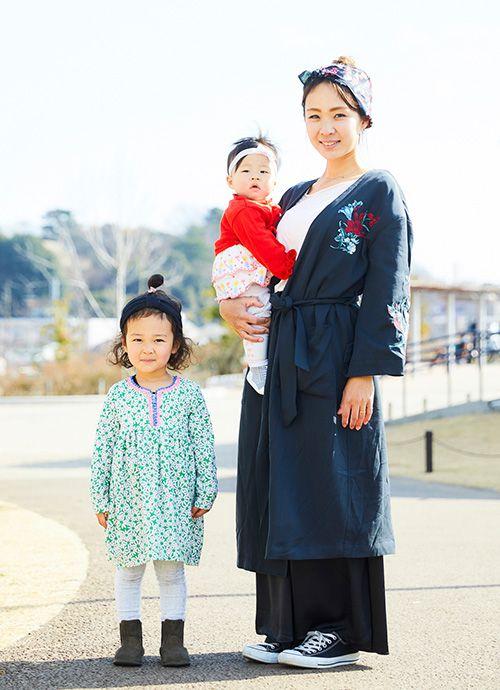 小学校教員 柴田千晶さん&優希ちゃん・3歳、侑彩ちゃん・0歳