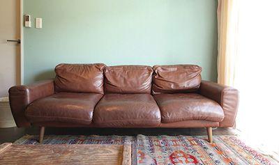 家族みんなで過ごす場所だから一番こだわったという『unico』のソファー。
