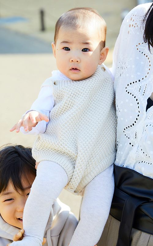 babyはベージュ×ホワイトの配色で、<br /> やさしい印象に仕上げて♡&#8221; /></p> <p class=