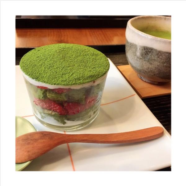 🍃茶茶の間🍃苺いり抹茶ティラミス🍓🍵お抹茶セット☺
