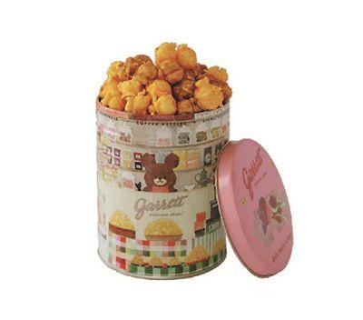 「Garret×ジャッキー」のスペシャルコラボアイテム オリジナルデザインクォート缶(ポップコーン) ¥1,566