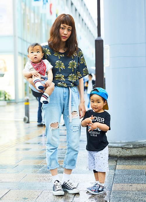 Street fashionのリンクコーデ