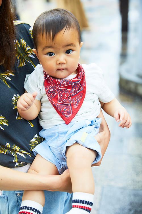 babyは白×青×赤のトリコロールカラーをチョイスしたサマースタイルにチャレンジ!