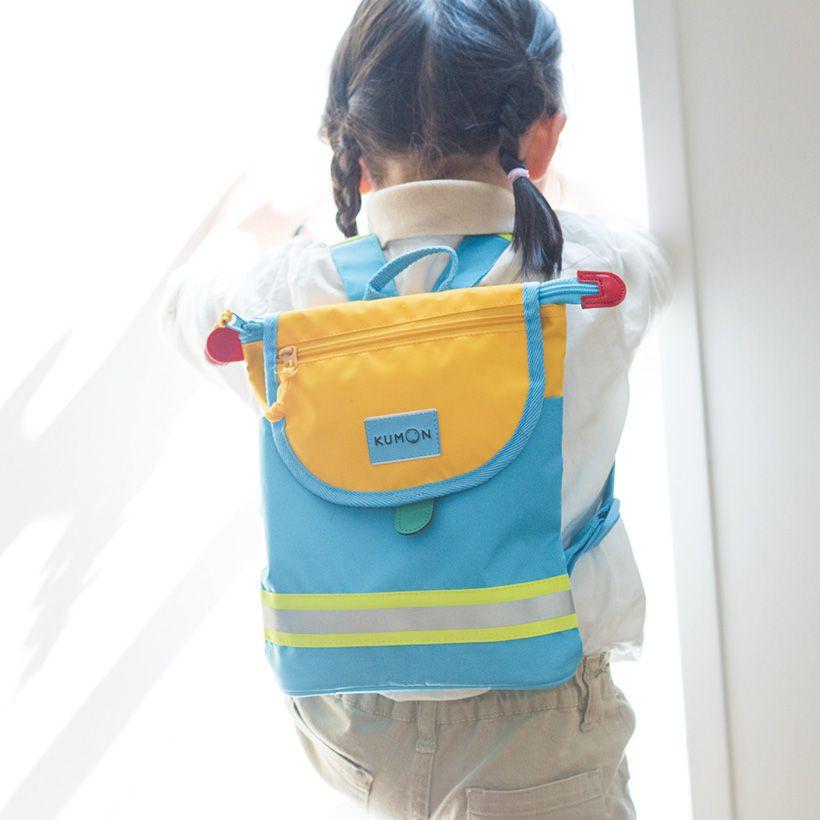 幼児向けのKUMONバッグは、普段のお出かけにも背負っていくほどお気に入り。