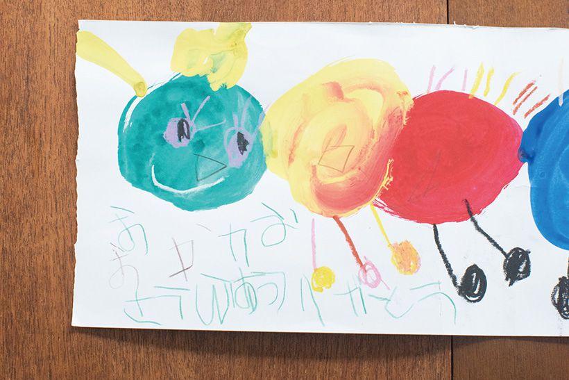KUMONに通い2カ月ほど経った時に玲衣ちゃんが初めて書いてくれた「おかあさんありがとう」の手紙は宝物。
