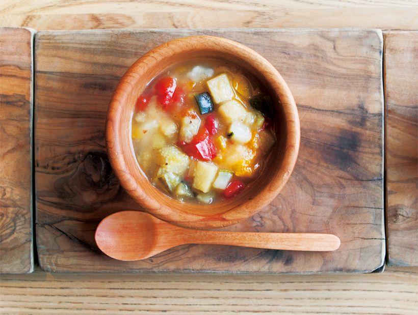 中期(7~8ヶ月) カボチャと彩り野菜のとろとろ餡