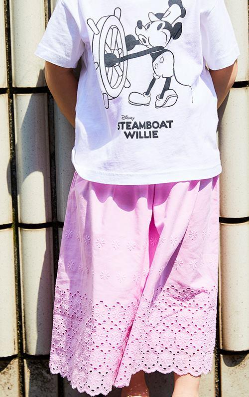 kidsはピンクのレーススカートを選んで、<br /> ガーリーで爽やかなムードを楽しんで!&#8221; /></p> <p class=