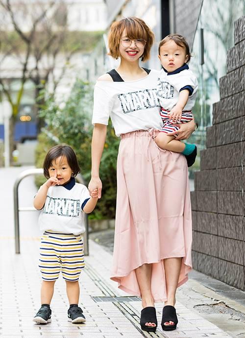 3人おそろいロゴTシャツ♡