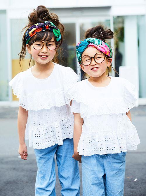 kidsはカラフルなヘアアクセが爽やかなコーデのアクセントに♪