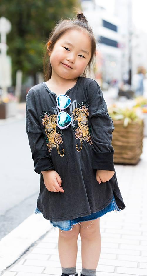 kidsはアニマル柄の刺繍でカジュアルな雰囲気を楽しんで♪