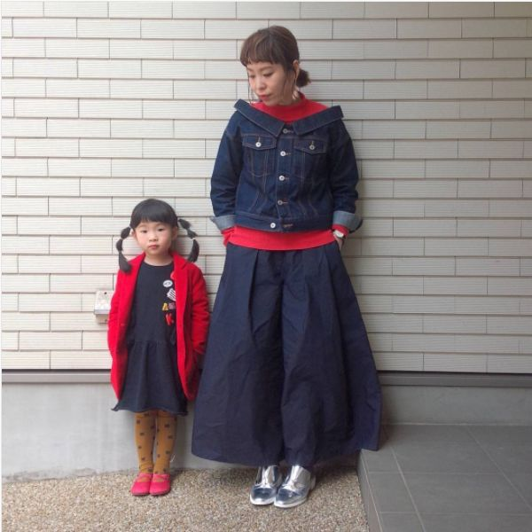 ★親子コーデ★赤リンク♡