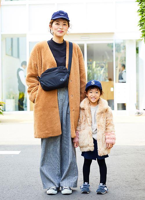 モコモコアウターのカップルコーデ☆ ママ彼氏と子彼女♡