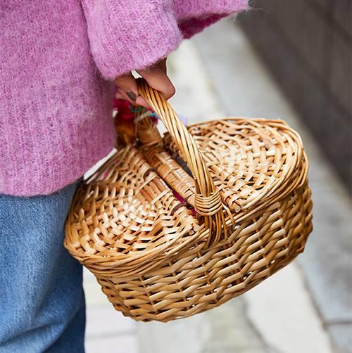 親子でカゴバッグを選んで、アクティブな雰囲気に♪