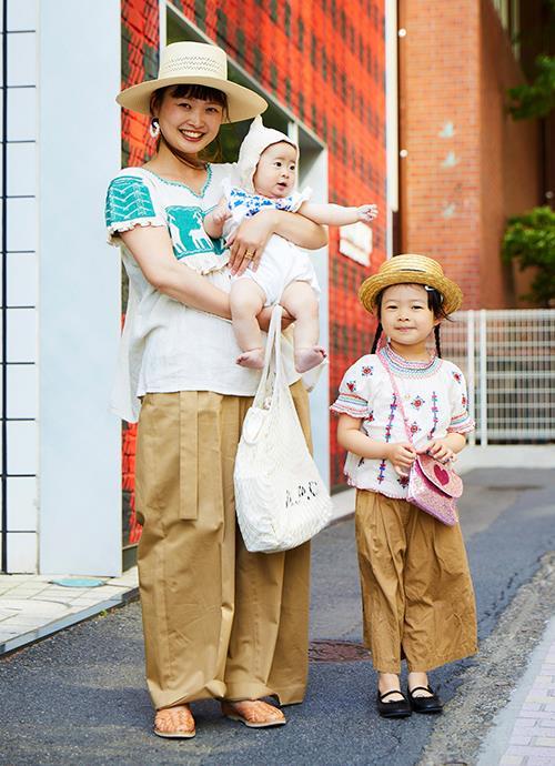 刺繍×チノパン リンクコーデ☺