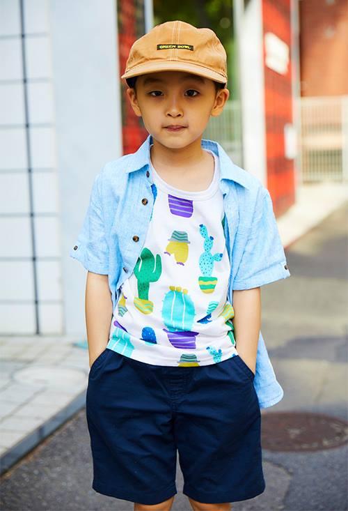 キッズはポップなプリントTシャツを選んでやんちゃに☆