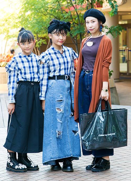 プチプラで双子コーデ☺ ママは秋カラーでお出かけ♡
