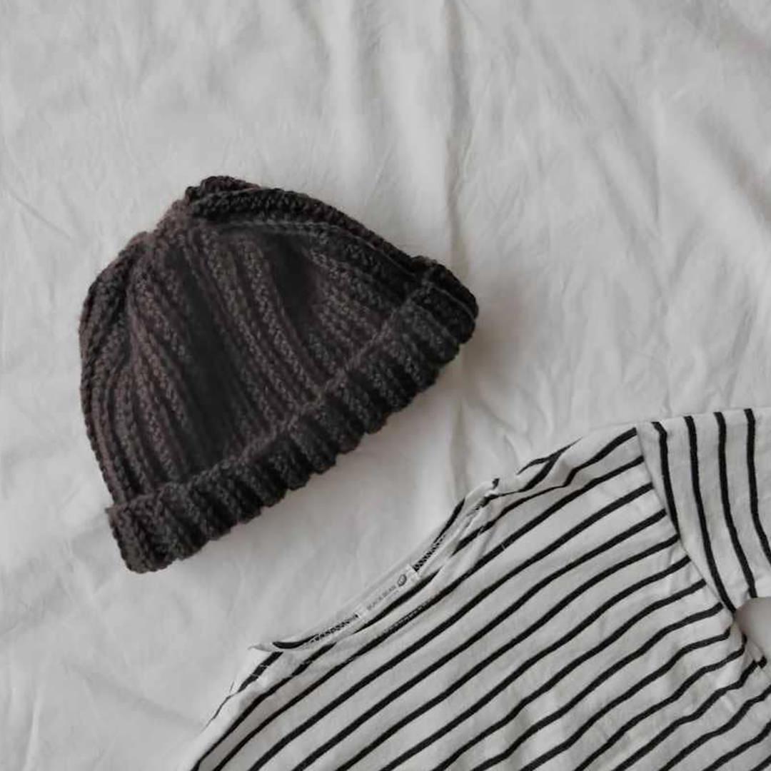 手編みベビーニット帽