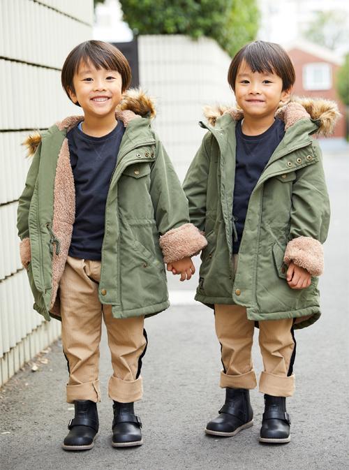 双子boysはモッズコートでミリタリーテイストに!