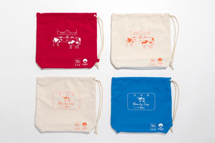 ビームスジャパンと牛乳石鹼のコラボショルダーバッグ