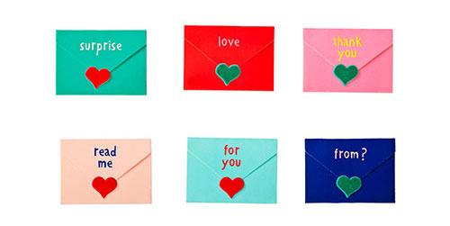 バレンタインのメッセージカード