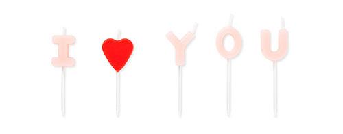 I LOVE YOUのキャンドル