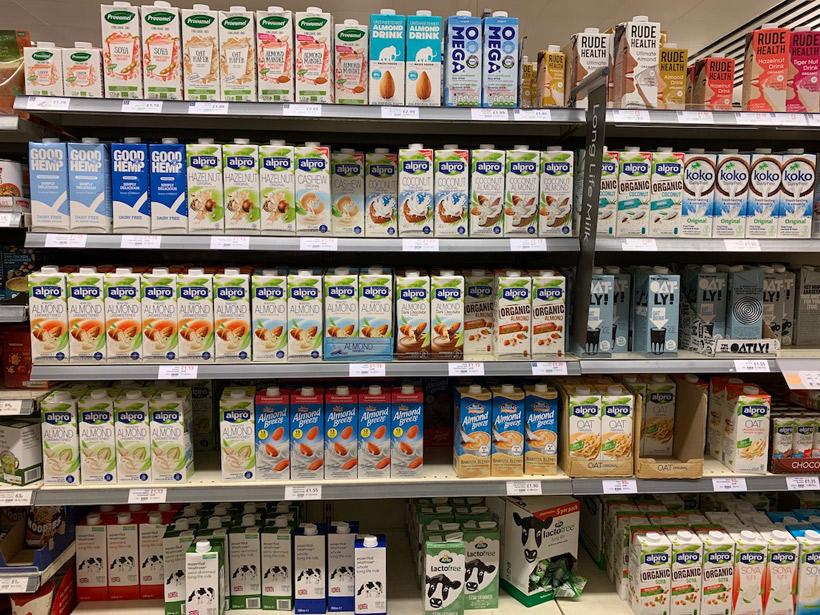最近流行中の植物性のミルク
