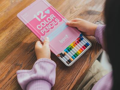 スライド式の色鉛筆