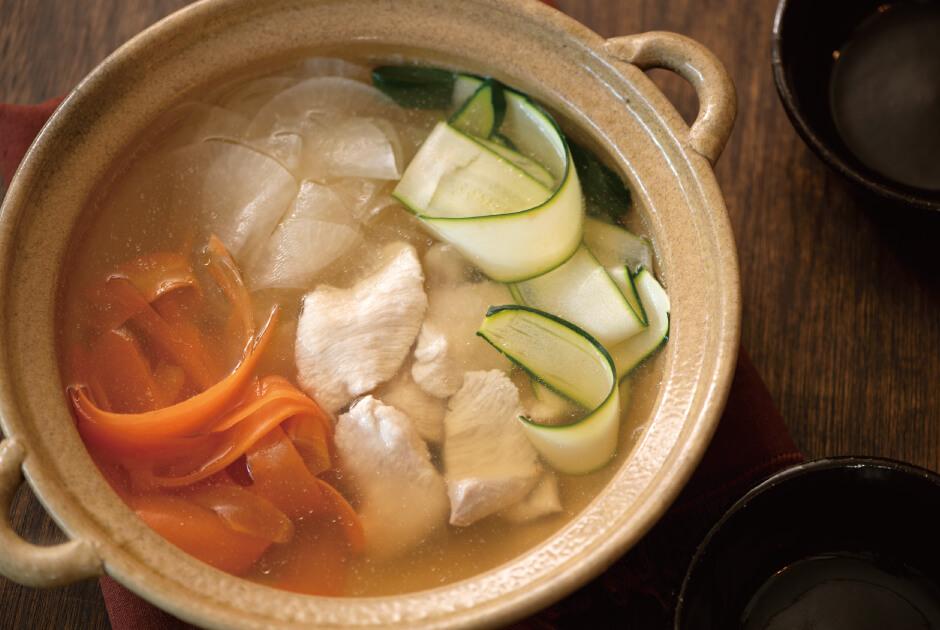 鶏むね肉と薄切り野菜鍋_top