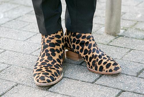 レオパード柄のブーツ