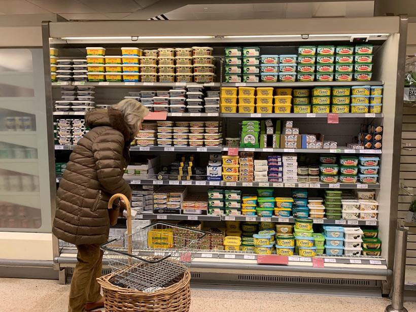 イギリスのバター売り場