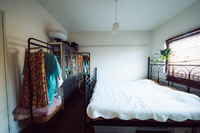 ヨーロッパアンティークなベッドルーム