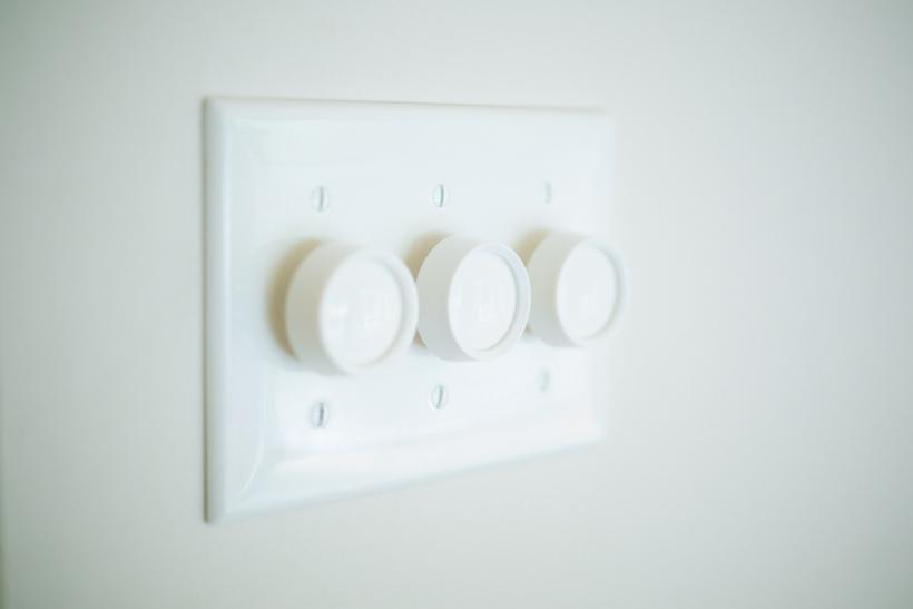 一新した電気スイッチ