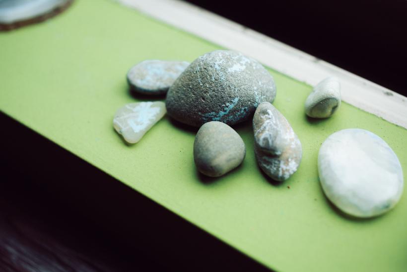 子どもが拾ってきた石