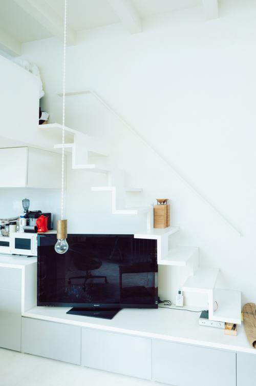 キッチン上のロフトスペース