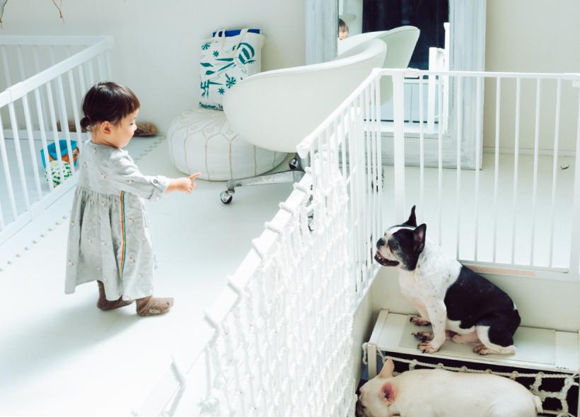 犬と小さな女の子
