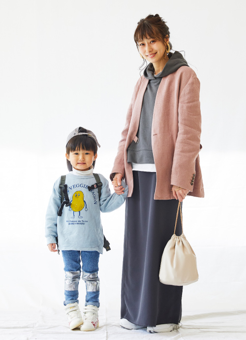 ピンク&水色♡春色コーデ